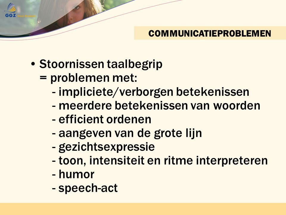 COMMUNICATIEPROBLEMEN