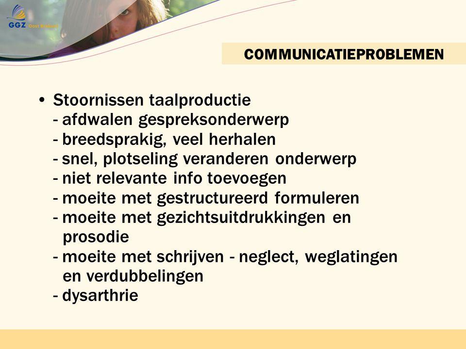 COMMUNICATIEPROBLEMEN
