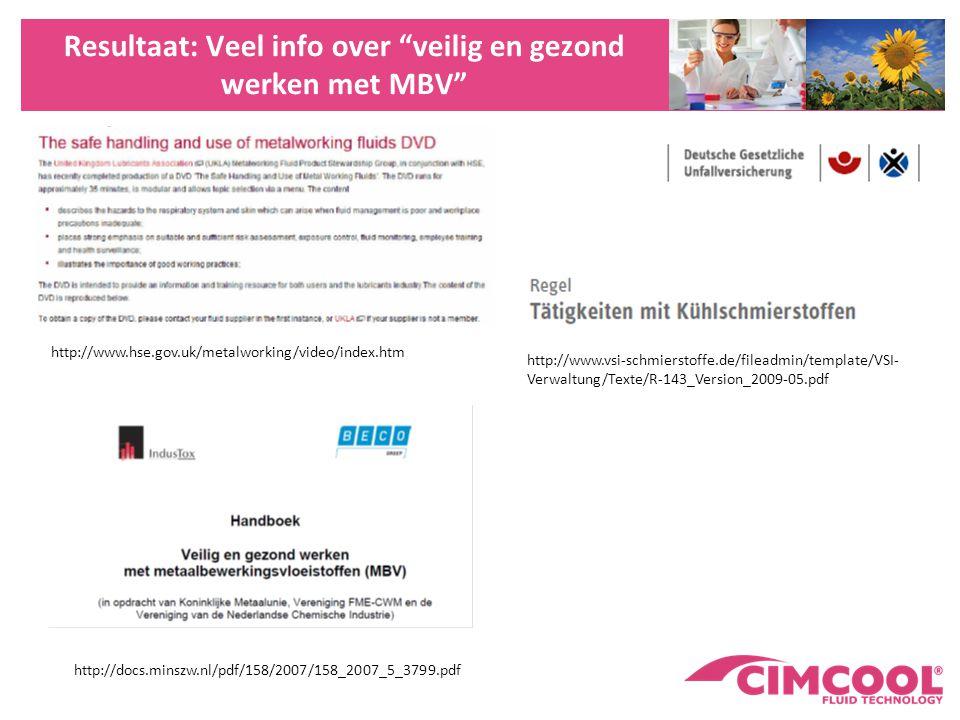 Resultaat: Veel info over veilig en gezond werken met MBV