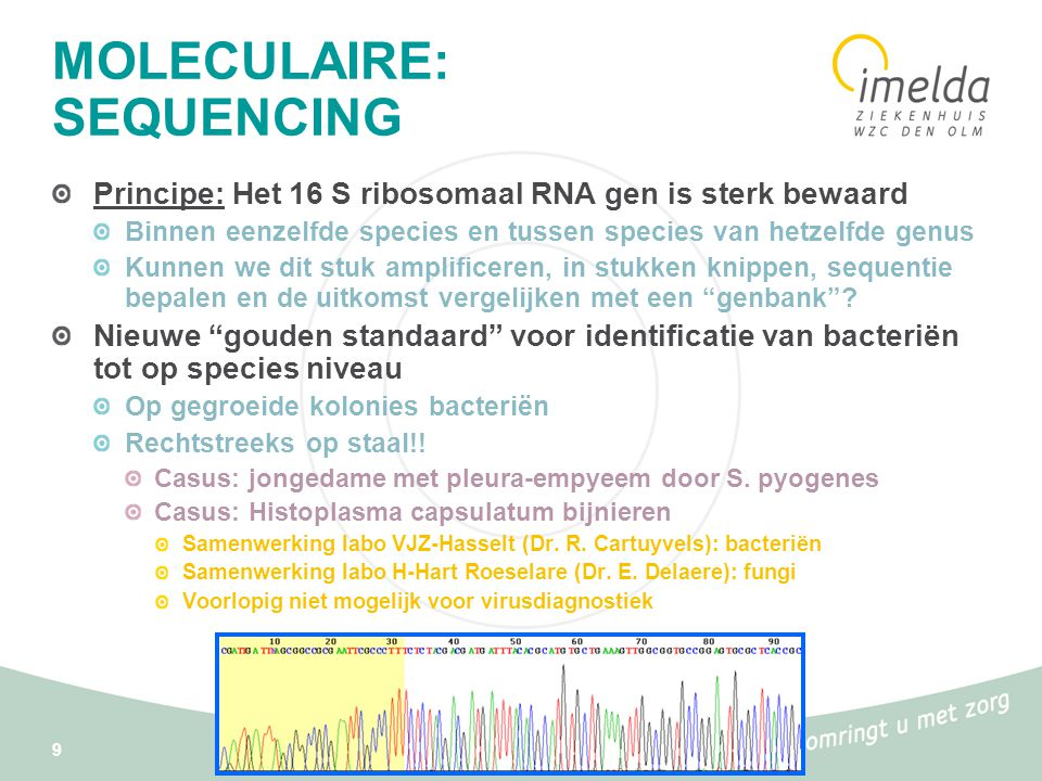 MOLECULAIRE: SEQUENCING