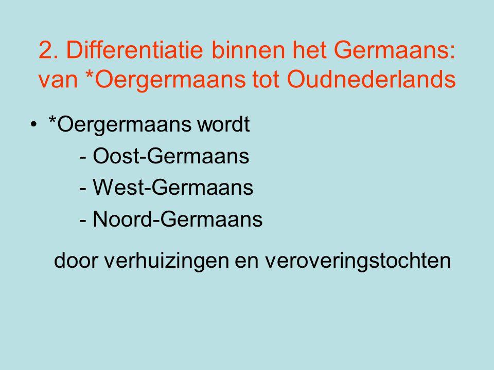 2. Differentiatie binnen het Germaans: van