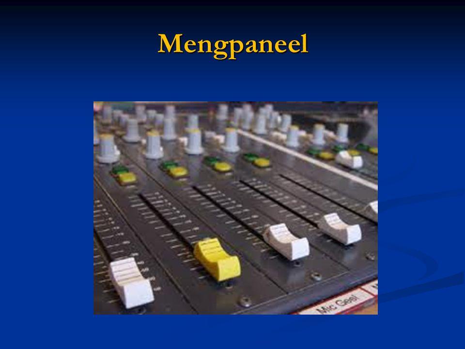 Mengpaneel Bij het bespreken hiervan dringt de metafoor van het mengpaneel zich op; onder de verschillende schuiven zitten dan de communicatietaken.