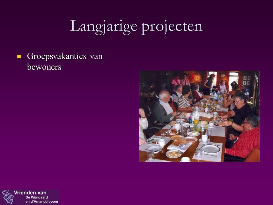 Langjarige projecten Groepsvakanties van bewoners