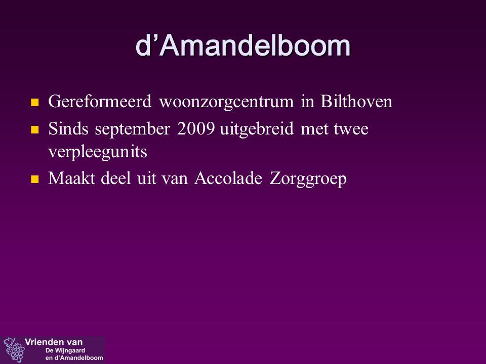 d'Amandelboom Gereformeerd woonzorgcentrum in Bilthoven