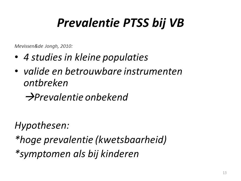 Prevalentie PTSS bij VB