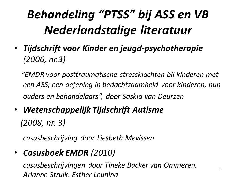 Behandeling PTSS bij ASS en VB Nederlandstalige literatuur