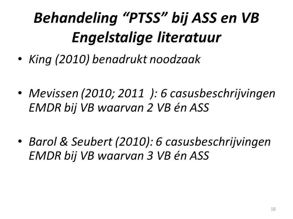 Behandeling PTSS bij ASS en VB Engelstalige literatuur