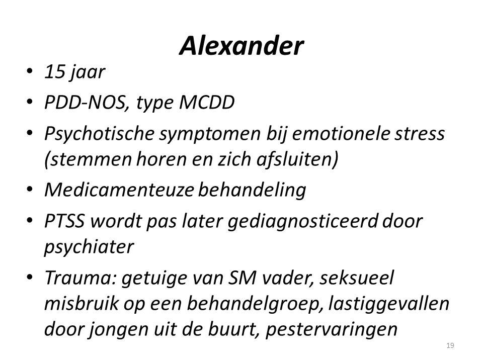 Alexander 15 jaar PDD-NOS, type MCDD