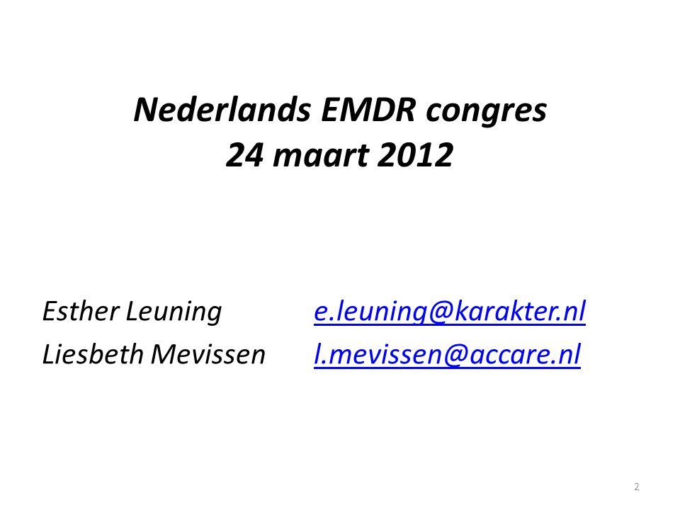 Nederlands EMDR congres 24 maart 2012
