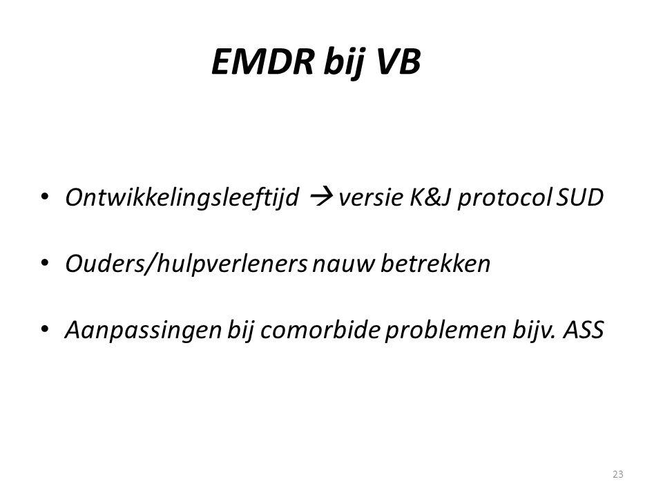 EMDR bij VB Ontwikkelingsleeftijd  versie K&J protocol SUD