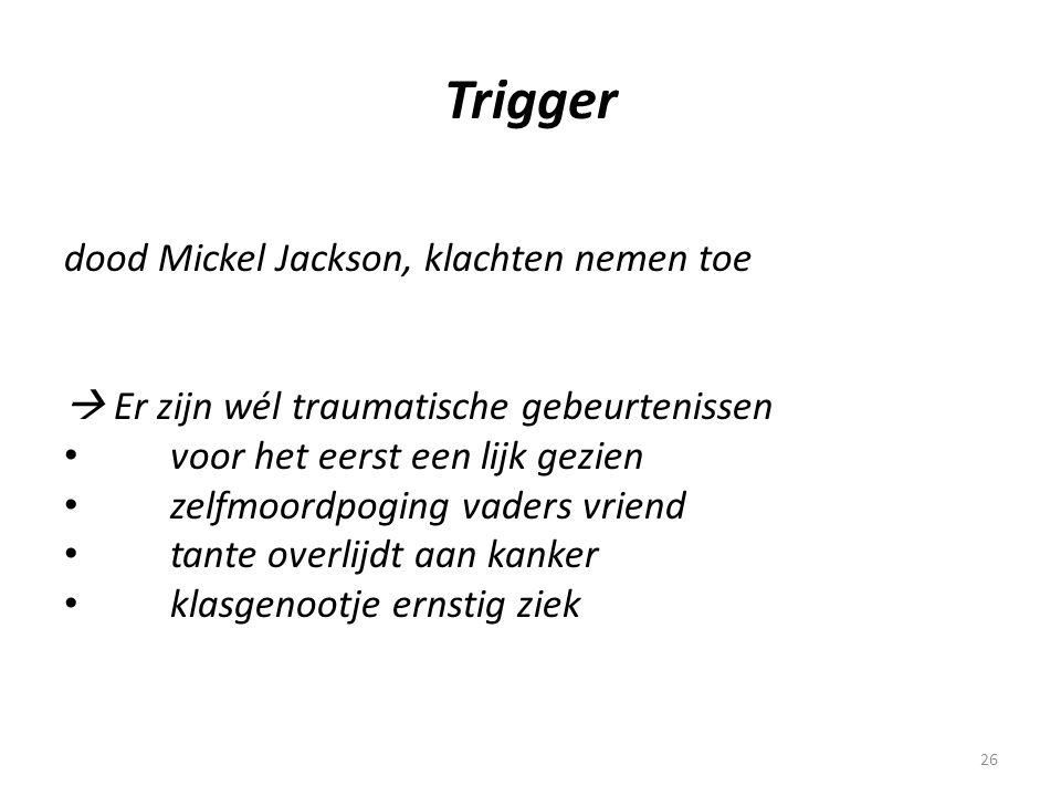 Trigger dood Mickel Jackson, klachten nemen toe