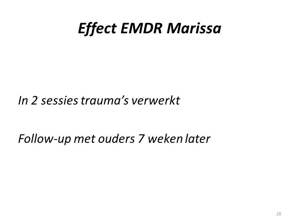 Effect EMDR Marissa In 2 sessies trauma's verwerkt