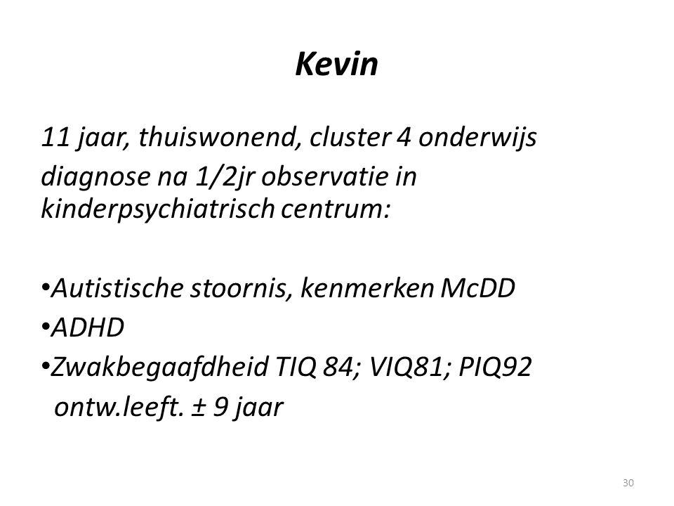 Kevin 11 jaar, thuiswonend, cluster 4 onderwijs