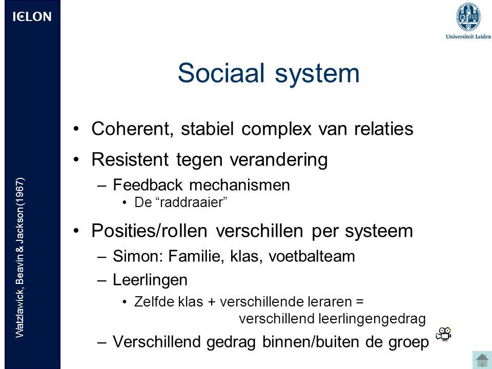 Sociaal system Coherent, stabiel complex van relaties