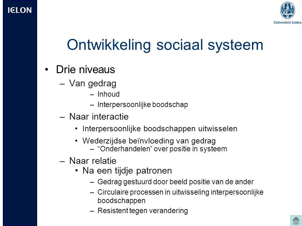 Ontwikkeling sociaal systeem
