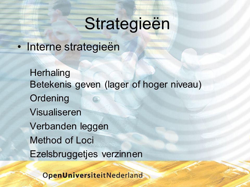 Strategieën Interne strategieën Herhaling