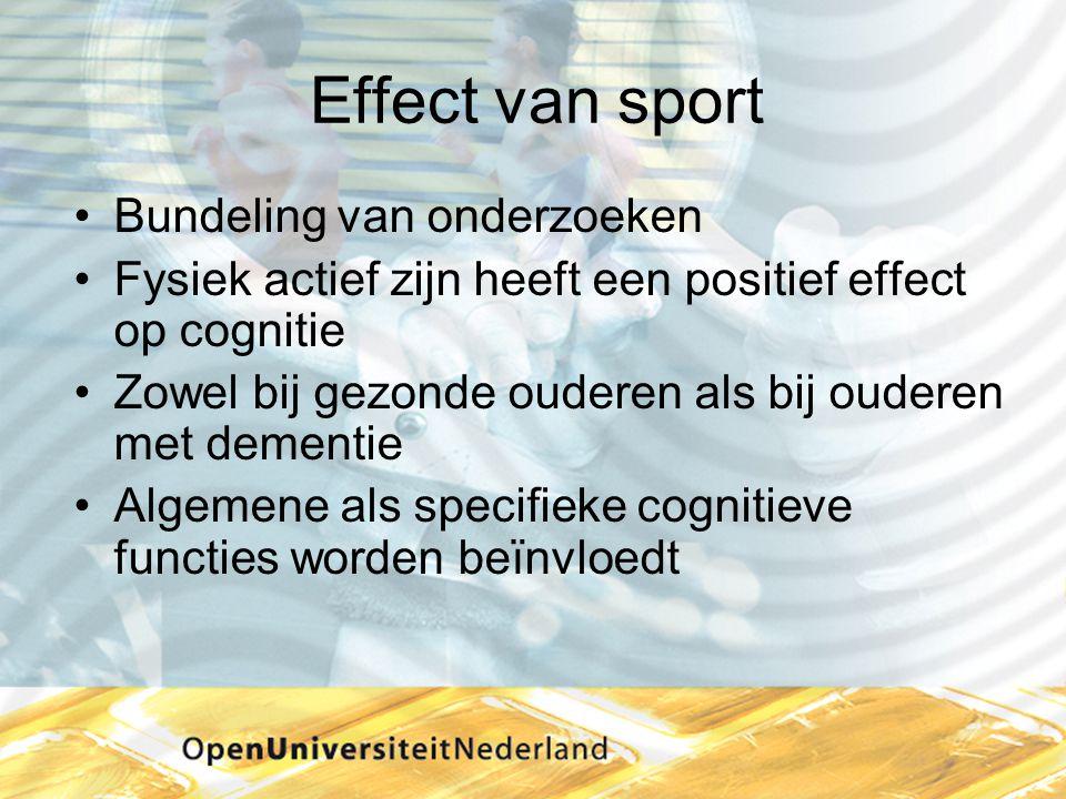 Effect van sport Bundeling van onderzoeken