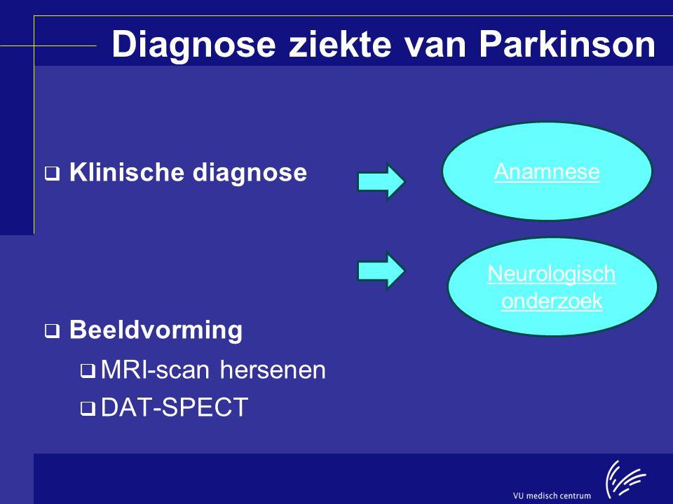 Diagnose ziekte van Parkinson