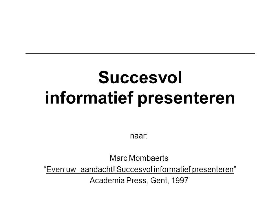 Succesvol informatief presenteren