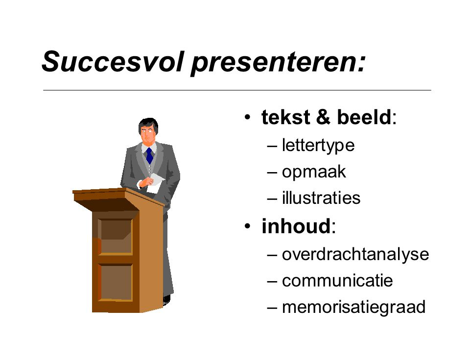 Succesvol presenteren: