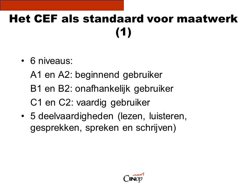Het CEF als standaard voor maatwerk (1)