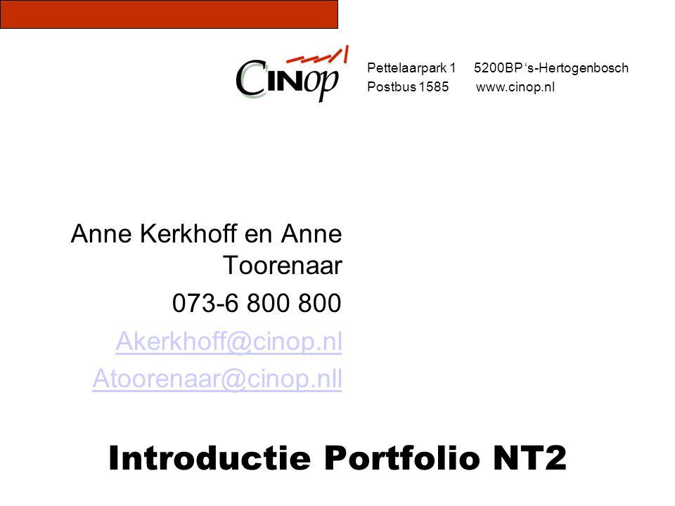 Introductie Portfolio NT2