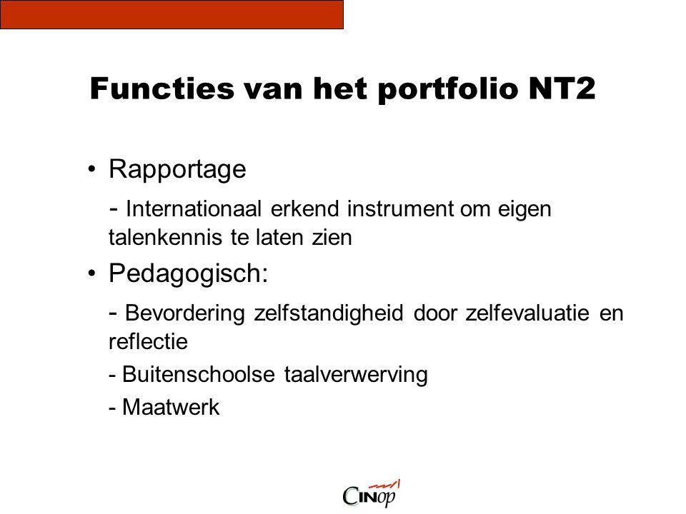 Functies van het portfolio NT2