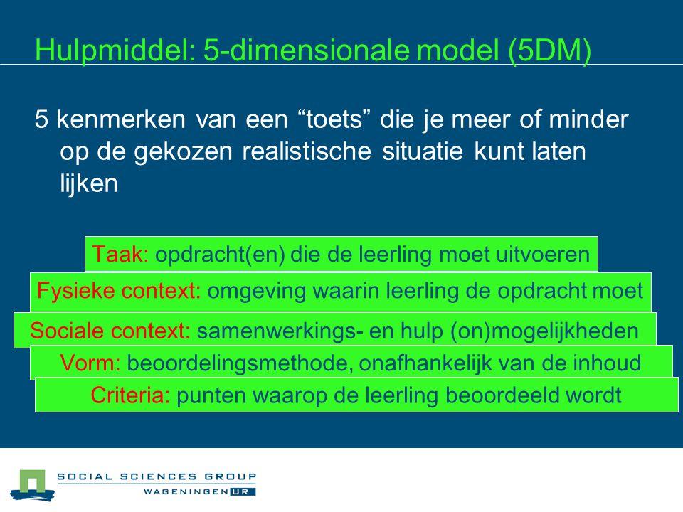 Hulpmiddel: 5-dimensionale model (5DM)