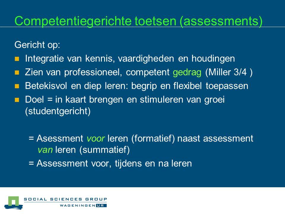 Competentiegerichte toetsen (assessments)