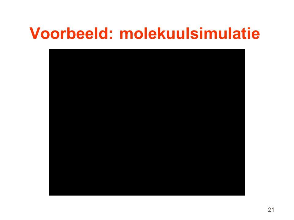 Voorbeeld: molekuulsimulatie