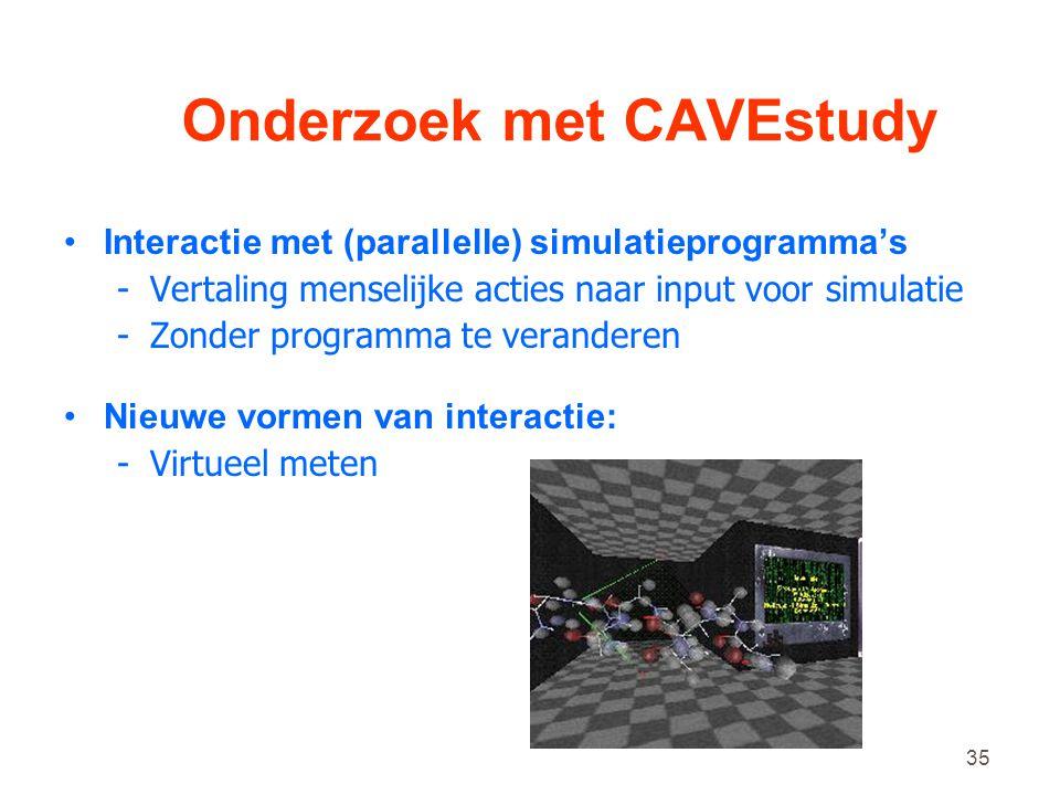Onderzoek met CAVEstudy