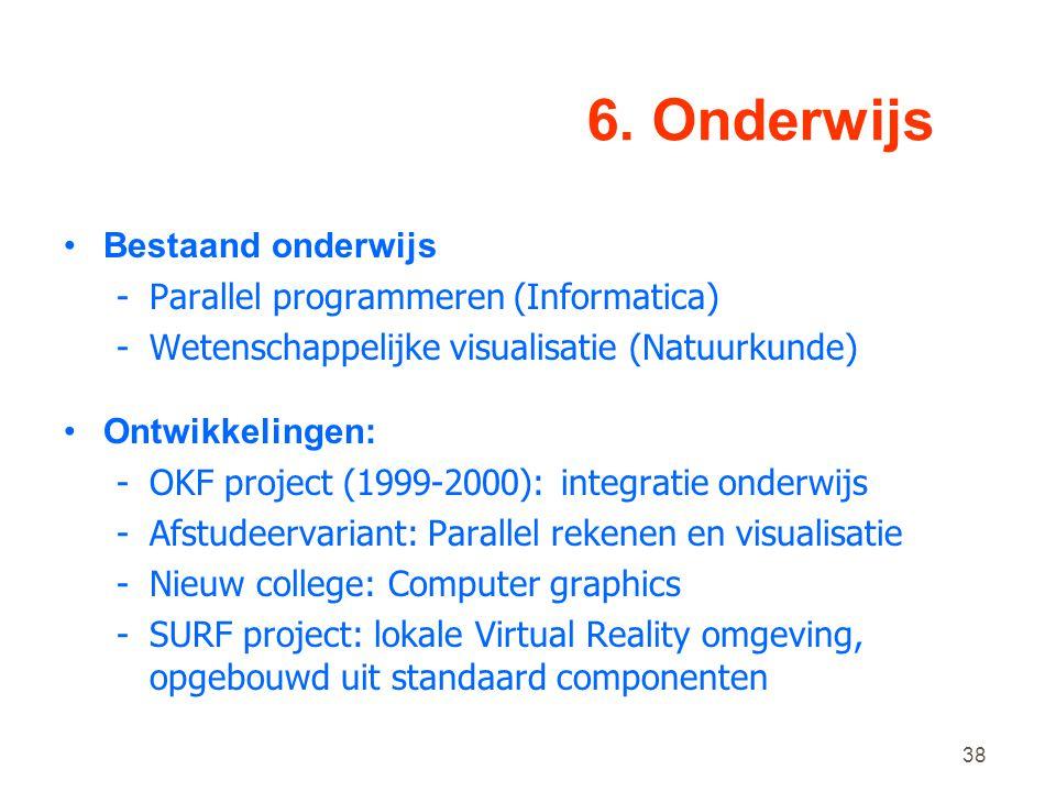 6. Onderwijs Bestaand onderwijs Parallel programmeren (Informatica)