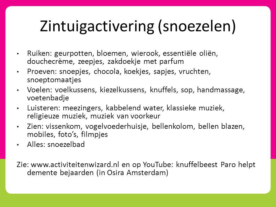 Zintuigactivering (snoezelen)