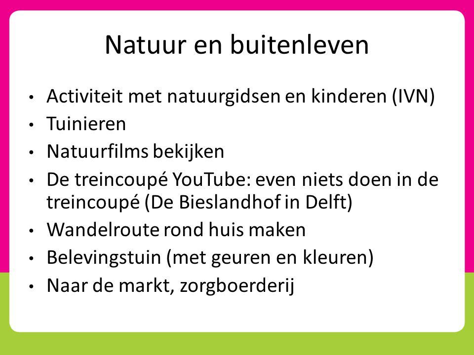 Natuur en buitenleven Activiteit met natuurgidsen en kinderen (IVN)
