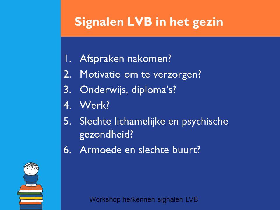 Signalen LVB in het gezin
