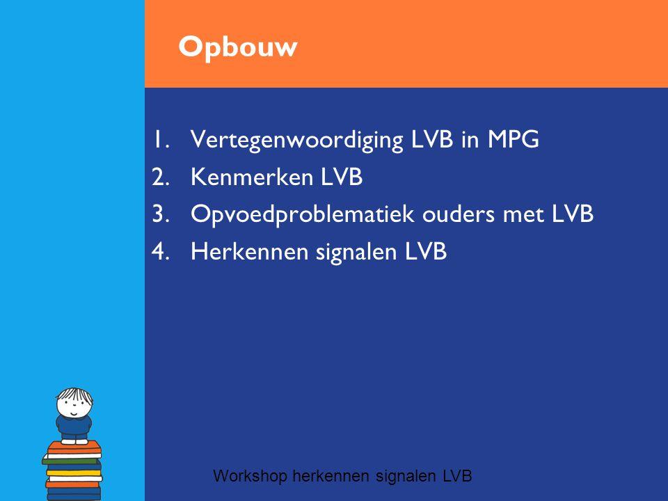 Opbouw Vertegenwoordiging LVB in MPG Kenmerken LVB