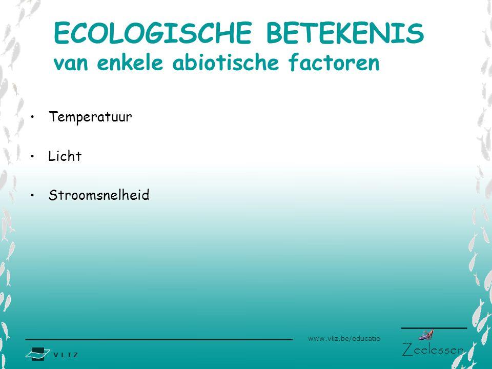 ECOLOGISCHE BETEKENIS