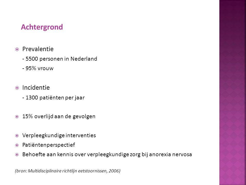 Achtergrond Prevalentie Incidentie - 5500 personen in Nederland