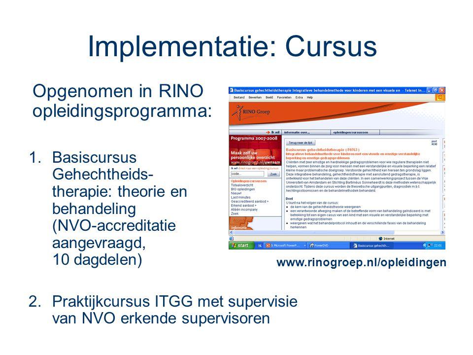 Implementatie: Cursus