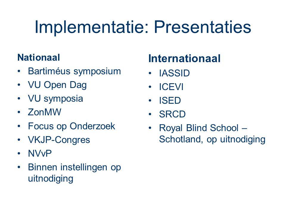 Implementatie: Presentaties