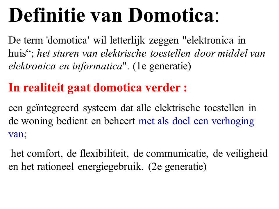 Definitie van Domotica: