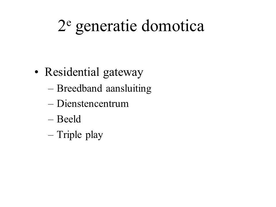 2e generatie domotica Residential gateway Breedband aansluiting