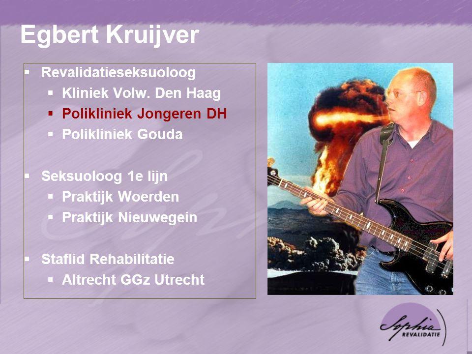 Egbert Kruijver Revalidatieseksuoloog Kliniek Volw. Den Haag