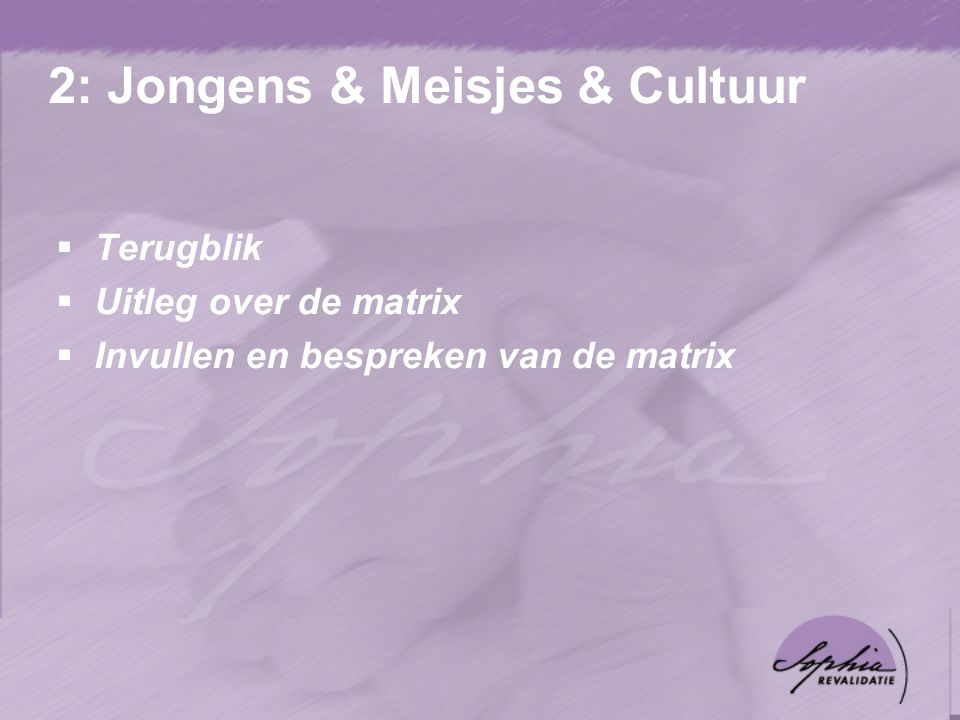 2: Jongens & Meisjes & Cultuur