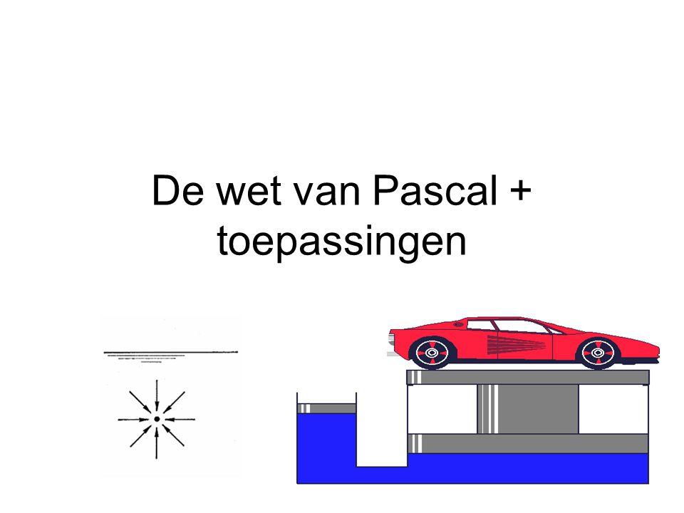 De wet van Pascal + toepassingen