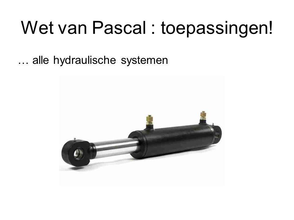 Wet van Pascal : toepassingen!