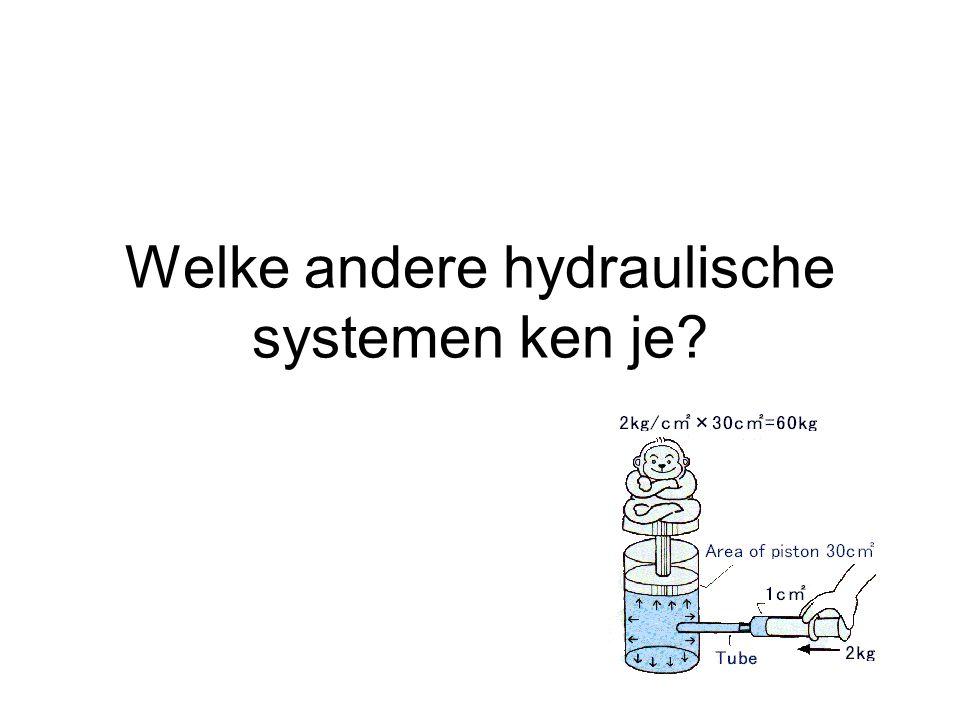 Welke andere hydraulische systemen ken je