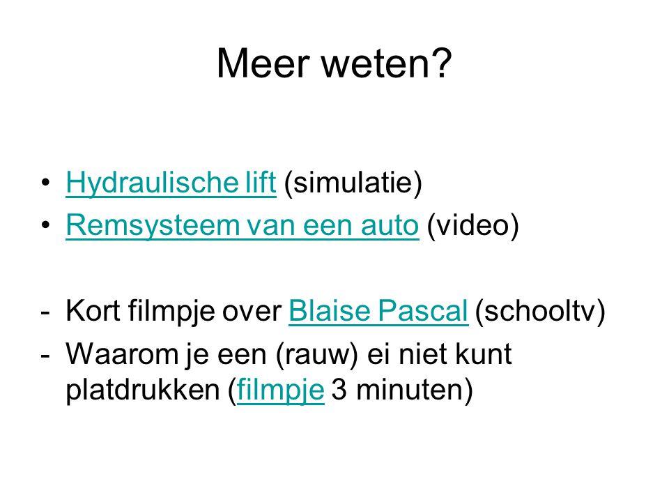 Meer weten Hydraulische lift (simulatie)