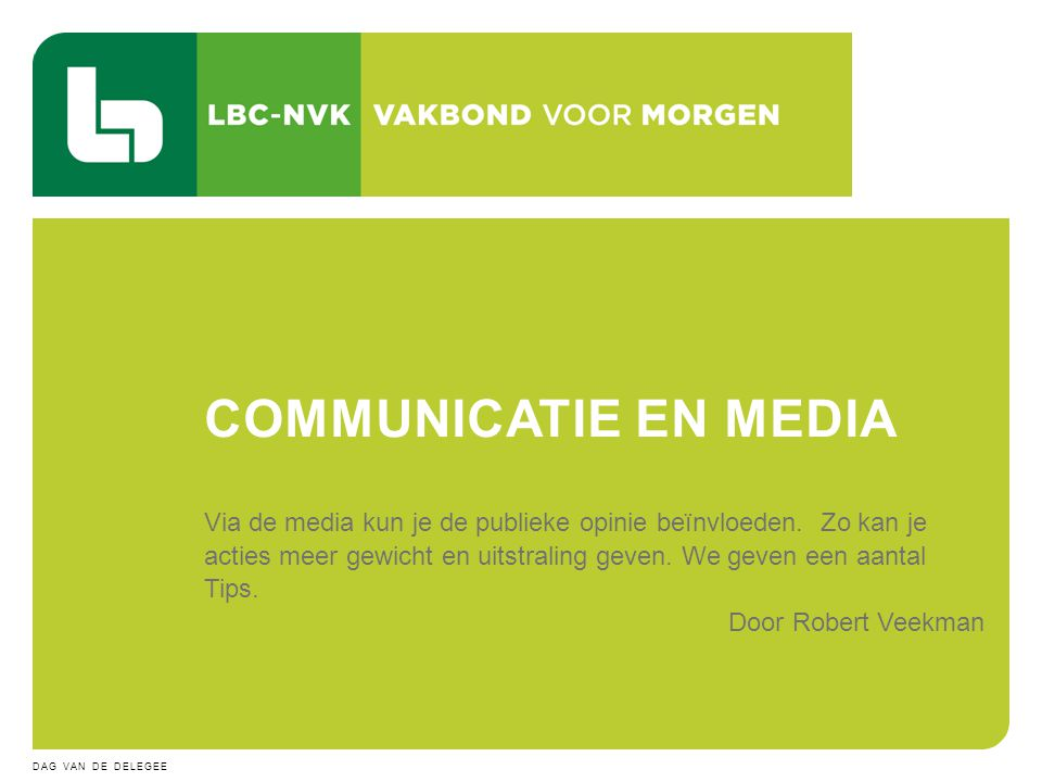 COMMUNICATIE EN MEDIA