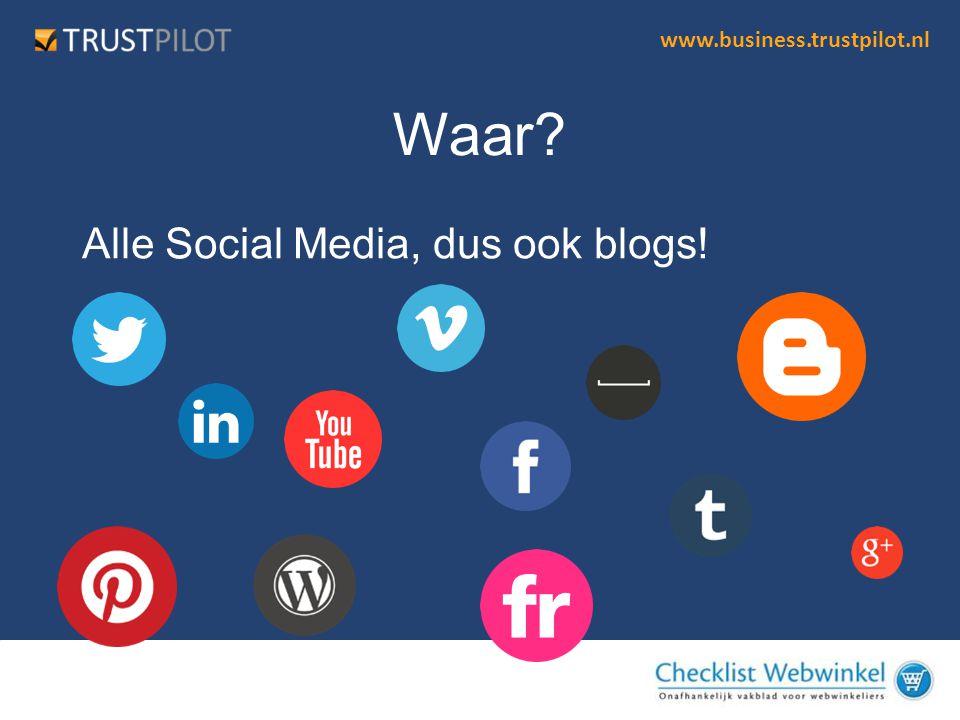 Waar Alle Social Media, dus ook blogs!